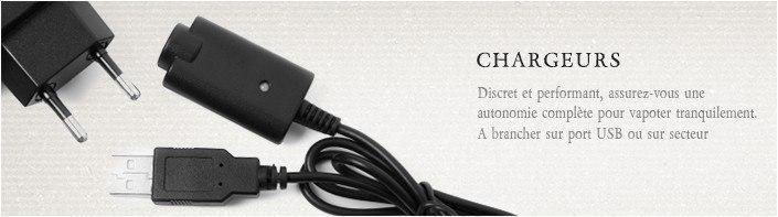 Chargeur USB - Cigarette électronique, e-cigarette, dlice, batterie EGO, EGOT